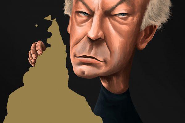 caricatura de eduardo galeano